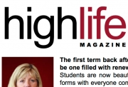 The latest issue of High Life magazine